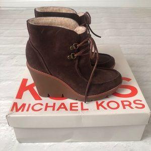 Michael Kors Suede Wedge Booties